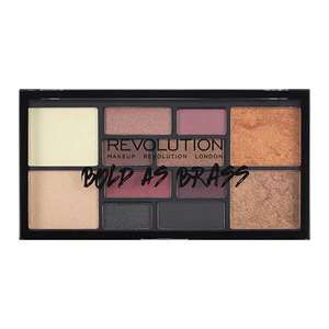 Free Bold as Brass Palette when you spend £12 on selected Makeup Revolution at Superdrug