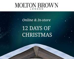 Molton Brown Day 1 of 12 days of Christmas - FREE luxury travel set when spent £65