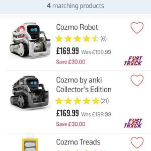 Cozmo robot £169.99 at Argos
