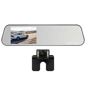 MIrror Dash Cam Touch Screen with Backup camera for Parking Safely Sold by Icarmore and Fulfilled by Amazon for £68.79