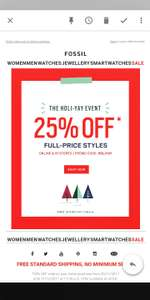 Fossil 25% Off Full-Price Styles