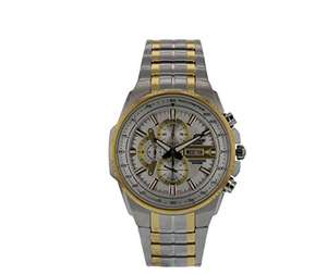 Casio Edifice Men's Quartz Chronograph Watch with Stainless Steel Bracelet and Day-Date Display - £119 Sold & Fulfilled by Amazon