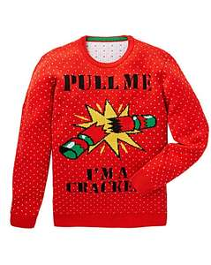 LABEL J CRACKER XMAS KNIT LONG - £15 (Free C&C or £3.99 Delivery) @ Jacamo