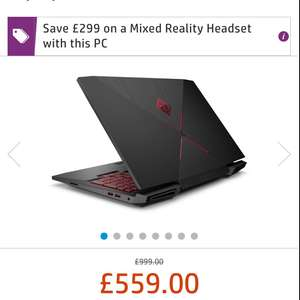(STUDENT) OMEN by HP 15-ce017na Gaming Laptop - GTX 1050ti + FREE HP Mixed Reality Headset (worth £299) - £559.99 @ HP