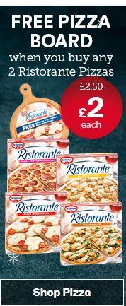 FREE PIzza board when you buy 2 Ristorante pizza at iceland - £4