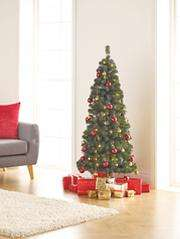 5ft Pop-Up Pre-Lit LED Christmas Tree Complete with Attached Red and Gold Baubles £25 instore / £27.95 Del online @ Asda George (also Silver & White)