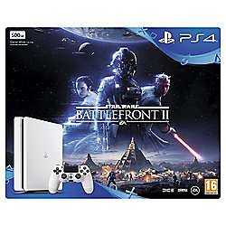 PS4 500GB Star Wars Battlefront II White Console + DS4 + Hidden Agenda only £229 @ Tesco