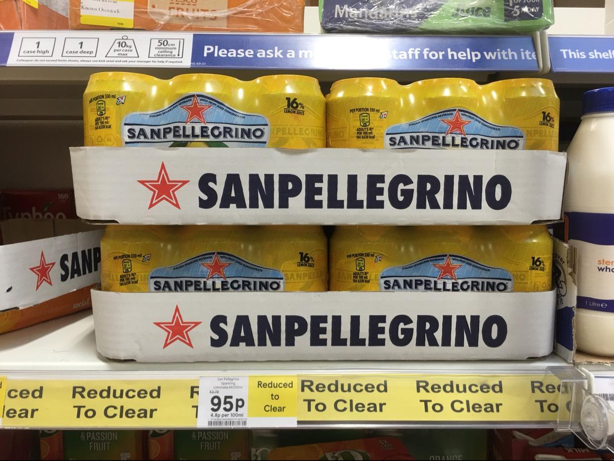 Sanpellegrino lemon and blood orange 6pks now 95p in Tesco instore where still in stock
