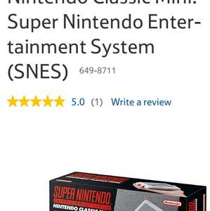SNES mini (Back in stock) - £79.99 @ Tesco