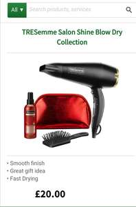 TRESemme salon shine blow dry collection £15 with code STAY20 Thanks to @n8swy @ LloydsPharmacy (Free C&C)