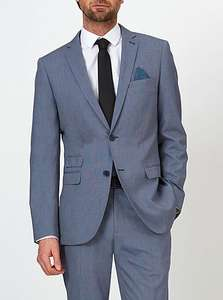 Slim Fit Suit Jacket – Blue (Sizes ONLY 36 Regular Fitting) Was £35.00 Now £20.00 @ George @ Asda