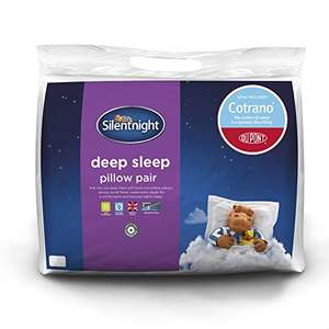 Amazon deal of the day! Pair of Silentnight Deep Sleep Plus Pillows - Only £10.99 delivered @ Amazon Prime (£14.98 non Prime)
