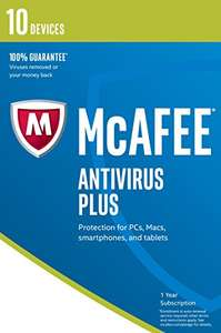 McAfee 2017 AntiVirus Plus | 10 Devices | 1 Year | PC/Mac/Android | Download £5.53 Prime / ££9.52 Non Prime @ Amazon (Sold by eoutlet-uk and Fulfilled by Amazon)