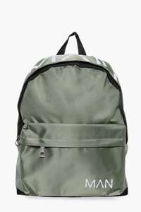 MAN Printed Nylon Back Pack for £6 Free delivery with code (FREE) @ Boohoo