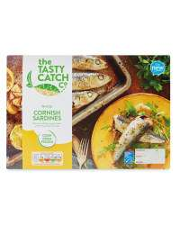 The Tasty Catch Co. Whole Cornish Sardines (350g) and with Butter (350g) was 1.59 now 99p @ Aldi