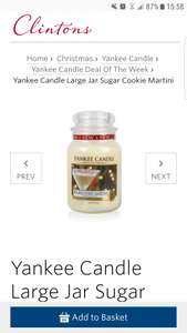 Large sugar cookie martini candle at Clintons for £13.48 delivered