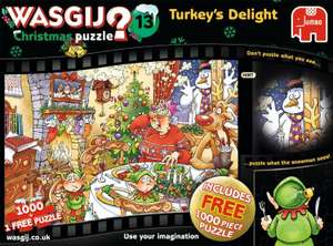 Wasjig Christmas 1000 Piece Jigsaw (+ Free 1000 Puzzle) Normally £12.99 now £7.99 Sainsburys - Instore Only.