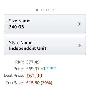 Sandisk Plus 240gb SSD Amazon £61.99