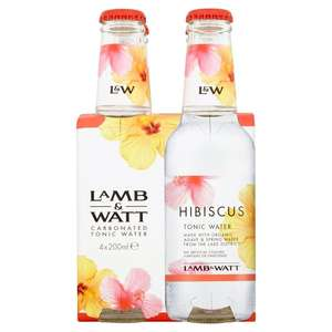 Lamb & Watt Hibiscus Tonic Water x 12 200ml bottles @ Amazon - £6.39 Prime (£10.38 non Prime) and original - see description