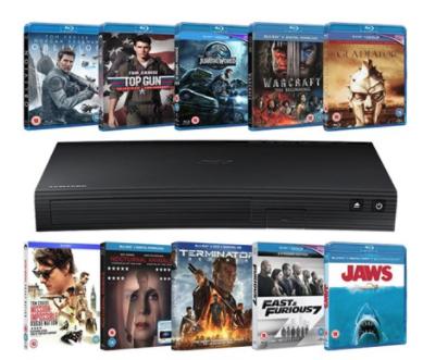 Samsung Blu-ray Player + 10 Blurays £63.99 / Samsung UBD-K8500 4K Player + 5 UHDs £159.99 @ ZoomUK (Using codes)