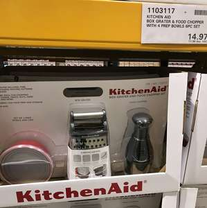 KitchenAid 6 piece set (grater,chopper,4bowls) Costco for £17.96
