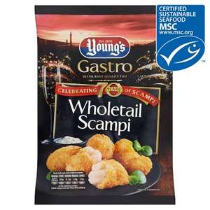 Young's Premium Wholetail Scampi 220g for £1.60 with PYO @ Waitrose