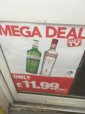 Smirnoff 70 cl @ premier local stores for £11.99