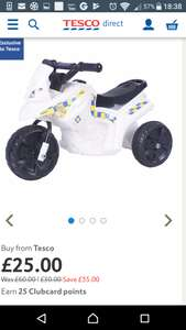 6v police electric ride on £25 @ Tesco