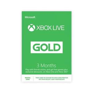 Xbox Live 3 Months Digital Download for £8.99 @ Smyths