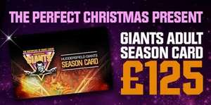 Huddersfield Giants Rugby League 2018 season tickets - Adults only £125! (U19s only £75 including free shirt)