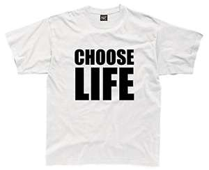 Choose Life Mens T-Shirt - XL - 99p Prime - Add-on Item @ Amazon