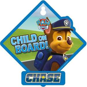 Paw patrol child on board sign £2.98 Was £4.99 Free C&C @ Toysrus