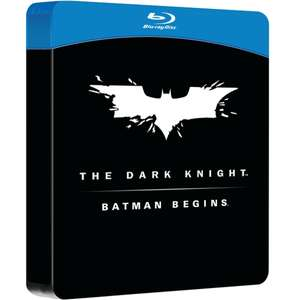Batman Begins & The Dark Knight Double Pack Steelbook (Blu-Ray) £7.99 Delivered @ 365 Games