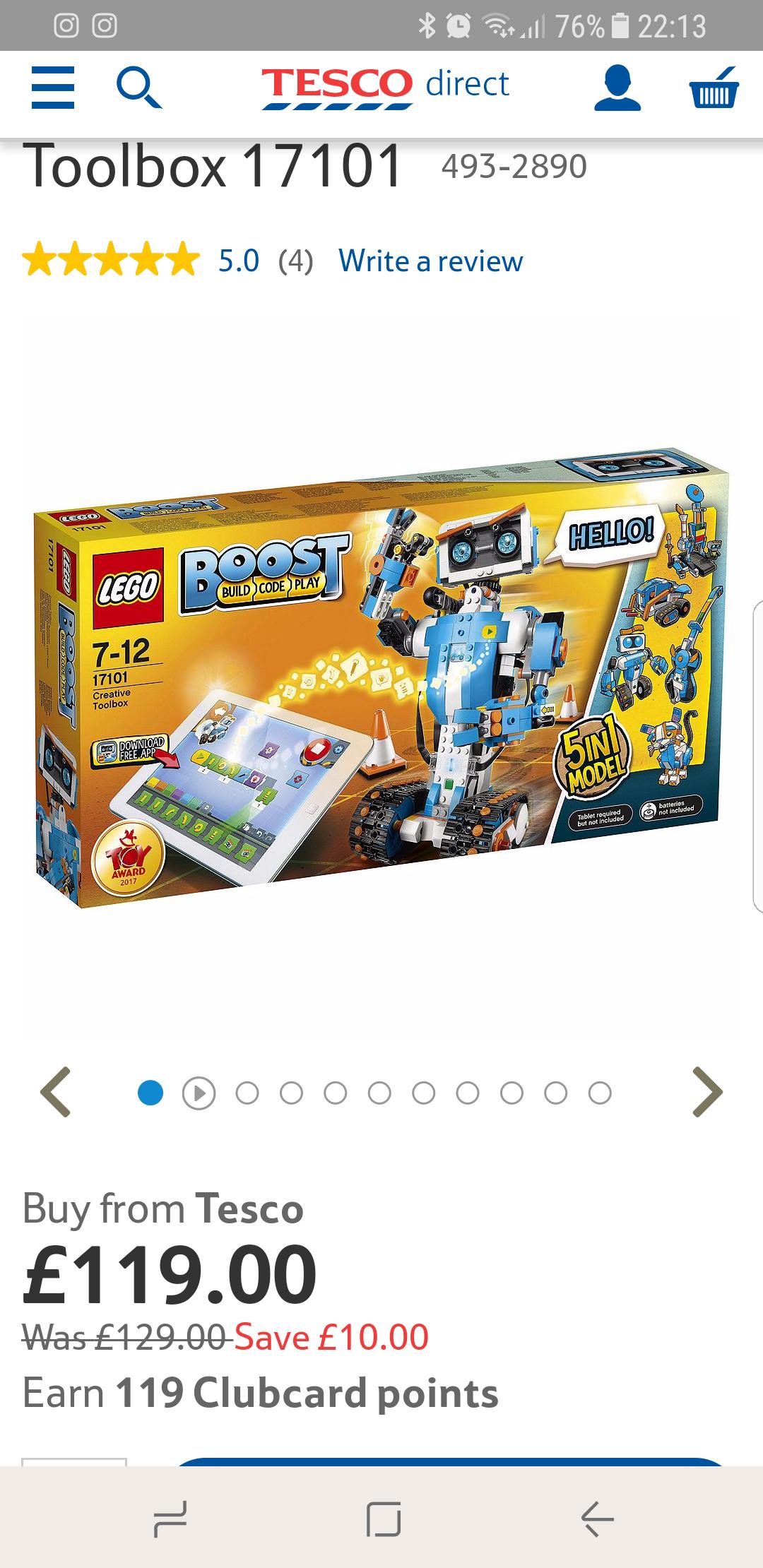 Lego Boost Tesco Direct - £119 @ Tesco