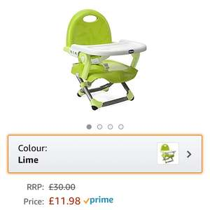 Chico pocket snack booster seat in Lime and Mandrino - £11.98 Prime Exclusive @ Amazon