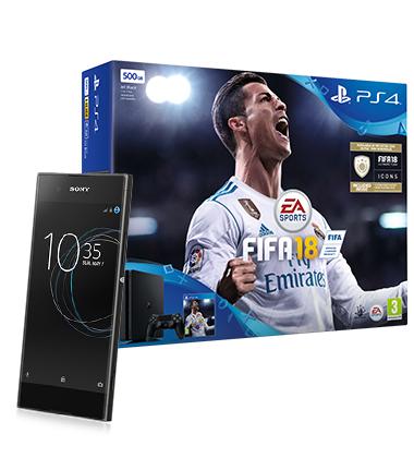 Sony Xperia XA1 + PS4 + FIFA 18 1500 mins, unlimited txts,5gb data £22pm x 24 months = £528 @ Virgin Media