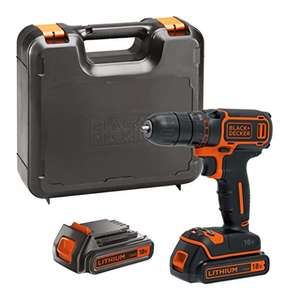 BLACK+DECKER 18 V Lithium-Ion Drill Driver with Kit Box and 2 Batteries - was £79.99 now £46.49 @ Amazon