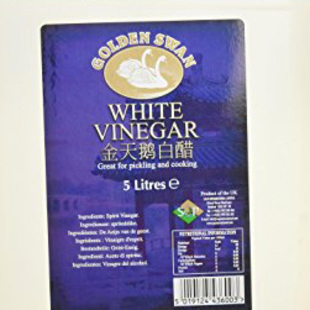 Golden Swan White Vinegar 5 Litre (Pack of 4) at Amazon for £9.59 Prime (£14.58 non Prime)