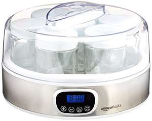 AmazonBasics Yoghurt Maker with Timer and 7 Jars £6.14 Sold & Fulfilled by Amazon Prime (£10.15 non Prime)