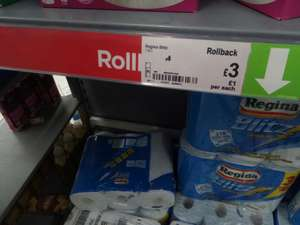Regina Blitz Paper towel at Asda for £3