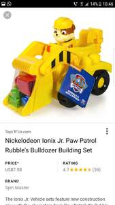 Paw Patrol IONIX Rubble and Digger instore at Home Bargains for £3.99