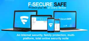 F‑Secure SAFE internet security Free for 5 devices,1 year (normally £79.99 a year)