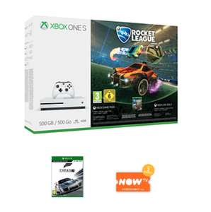 Xbox One S Console 500GB with Rocket League, Forza Motorsport 7 PLUS a NOW TV 2 Months Entertainment Pass - £169.99 - Game