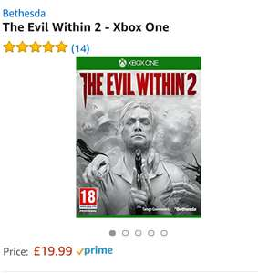Evil Within 2 (XB1 & PS4) - now £19.99 on Prime (£21.98 Non Prime) from Amazon