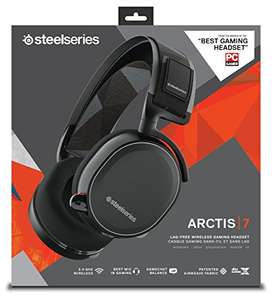 SteelSeries Arctis 7, Gaming Headset, Wireless, DTS 7.1 Surround for PC, (PC / Mac / Playstation / Mobile / VR) - Black 99.99 Amazon
