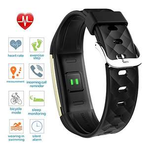 Activity Tracker Heart Rate Monitor Fitness Health Tracker Waterproof Smart Wristband Band with Pedometer Sleep Monitor Step Calorie Counter Bluetooth Bracelet for iPhone Android Price was 99.99£ reduced to 29.99 @ Sold by Scofit UK and Fulfilled by