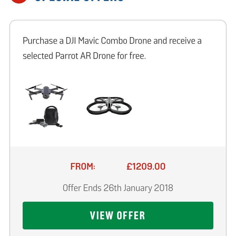 DJI Mavic Combo + Free £130 drone - £1209 @ Argos