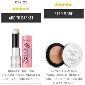 30% off most benefit products plus an extra 20% off with code. @ Look Fantastic