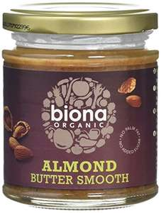 Biona Organic Smooth Almond Butter 170g (Pack of 3)  £8.03 (Prime) £12.02 (Non Prime) @ Amazon