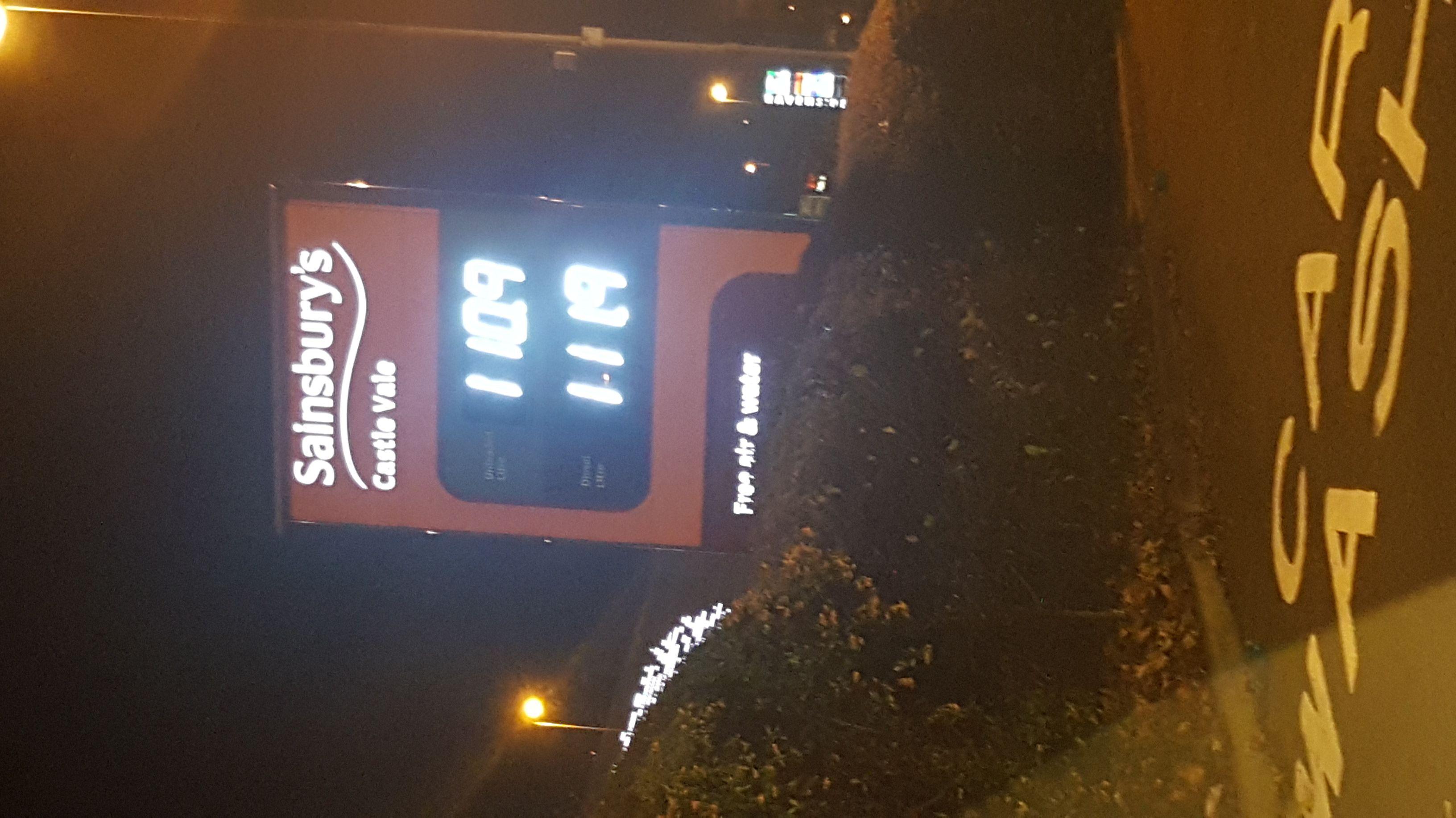 Sainsbury's petrol 110.9p @ Castle Vale